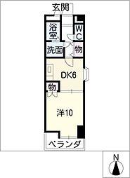 ユトエール花の木[4階]の間取り