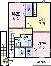 ガーデンヒルズA[2階]の間取り