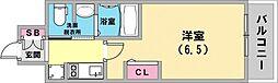 エステムプラザ神戸三宮ルクシア 11階1Kの間取り