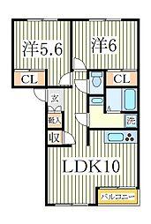 レジデンスKI[2階]の間取り