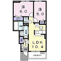 ルグランII[1階]の間取り
