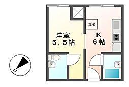 歴町センタービル[3階]の間取り