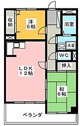 愛知県名古屋市昭和区広路町字隼人の賃貸マンションの間取り