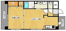フォーウィルズコートII[5階]の間取り