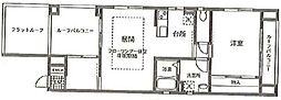 パレグランノール[2階]の間取り