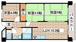 兵庫県明石市硯町3丁目の賃貸マンションの間取り