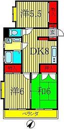 穂高マンション[2階]の間取り