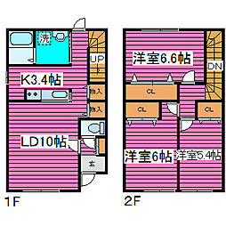 [一戸建] 北海道札幌市北区麻生町6丁目 の賃貸【/】の間取り