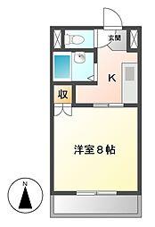 ゆうりん館[2階]の間取り