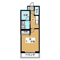 ベラジオ京都西院ウエストシティ[4階]の間取り