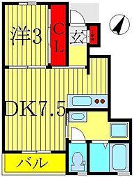 ピースルトウール・KM[102号室]の間取り