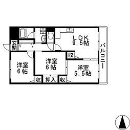 さんさん吉田[203号室号室]の間取り