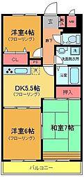 K−2レジデンス[3階]の間取り