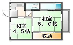 岡山県井原市木之子町の賃貸マンションの間取り