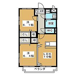 Y&Mガーデン宇都宮[1階]の間取り