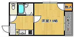 シャンドール住之江[2階]の間取り