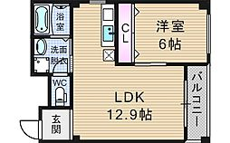 メロディーハイム九条[2階]の間取り