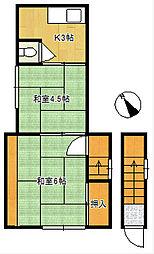 石井荘[2階]の間取り