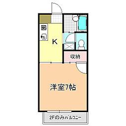 山崎ハイツ[205号室]の間取り
