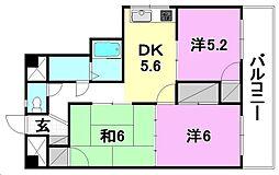 第7コートエル[403 号室号室]の間取り
