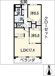 シャルム55[2階]の間取り