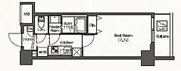 JR埼京線 板橋駅 徒歩6分の賃貸マンション 9階1Kの間取り