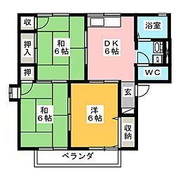 セジュール青木 B棟[1階]の間取り