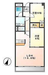 マーブル五番館[5階]の間取り