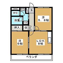 ウィンピア[2階]の間取り