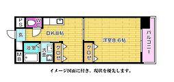 房尾本店横川橋ビル--[502号室]の間取り