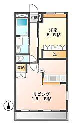 岐阜県可児市東帷子の賃貸アパートの間取り