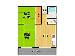 武庫之荘三興マンション[3階]の間取り