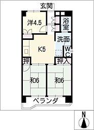 スカイルヒカリ[6階]の間取り