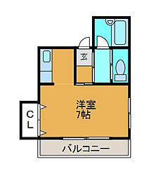 ラ・ヴィ中町[2階]の間取り