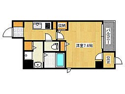 JR東海道・山陽本線 摩耶駅 徒歩8分の賃貸マンション 8階1Kの間取り