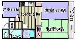 アンド・ユー岸和田[102号室]の間取り