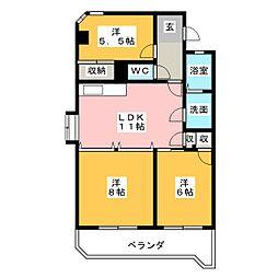 グリーンヒルズ浅井[1階]の間取り