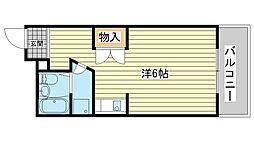 ハッピーコート栄町[401号室]の間取り