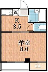 ロイヤル天王寺南[5階]の間取り