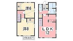 [テラスハウス] 兵庫県姫路市西庄 の賃貸【兵庫県 / 姫路市】の間取り