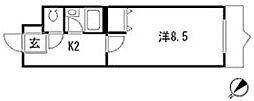 コンフォート祇園[1階]の間取り