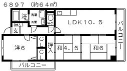 レジデンス佃[303号室号室]の間取り