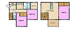 [一戸建] 神奈川県横浜市戸塚区上矢部町 の賃貸【/】の間取り