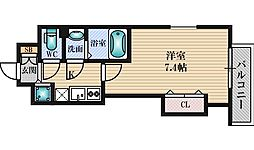 Luxe江坂2 5階1Kの間取り
