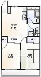 弁天ロイマンション[3階]の間取り