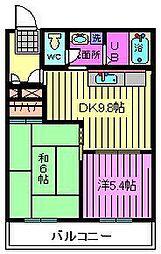 リバーサイドMAKIBA[5階]の間取り