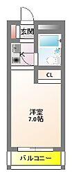 グリーン32[4階]の間取り
