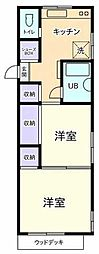 東京都国立市東4丁目の賃貸マンションの間取り
