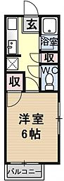 ハイツ澤田[108号室号室]の間取り