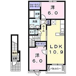 コーポ フェリーチェ[2階]の間取り